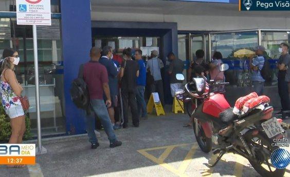 [Prefeitura de Salvador determina que agências bancárias organizem distanciamento na fila de clientes]