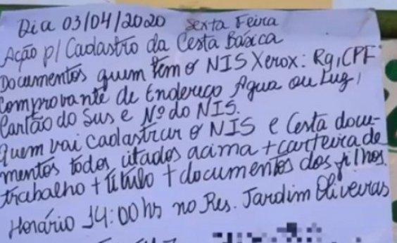 [Prefeitura de Feira de Santana alerta para golpe em interessados no auxílio alimentação]