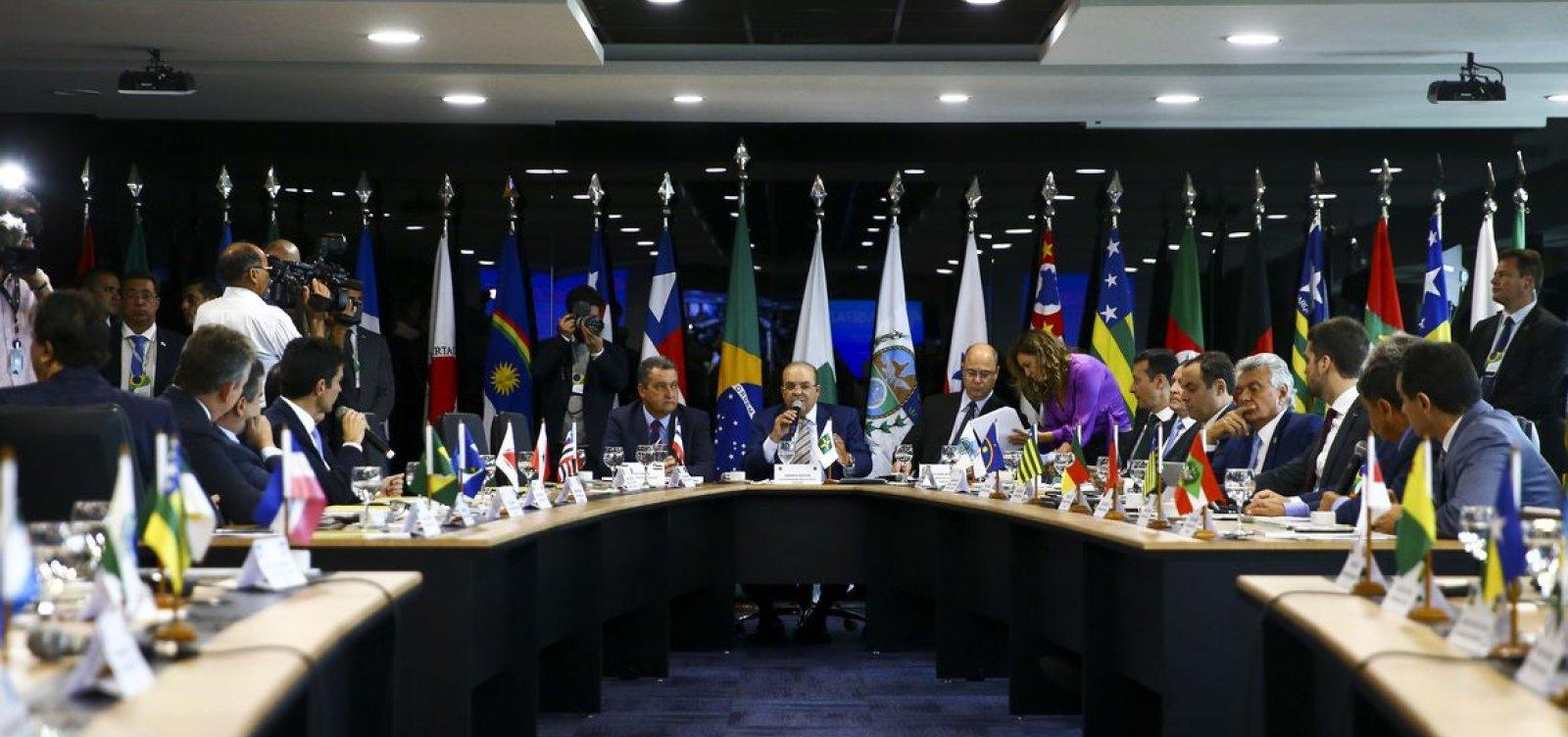 [Governadores lamentam saída de Sergio Moro do governo e alguns lhe oferecem cargos]