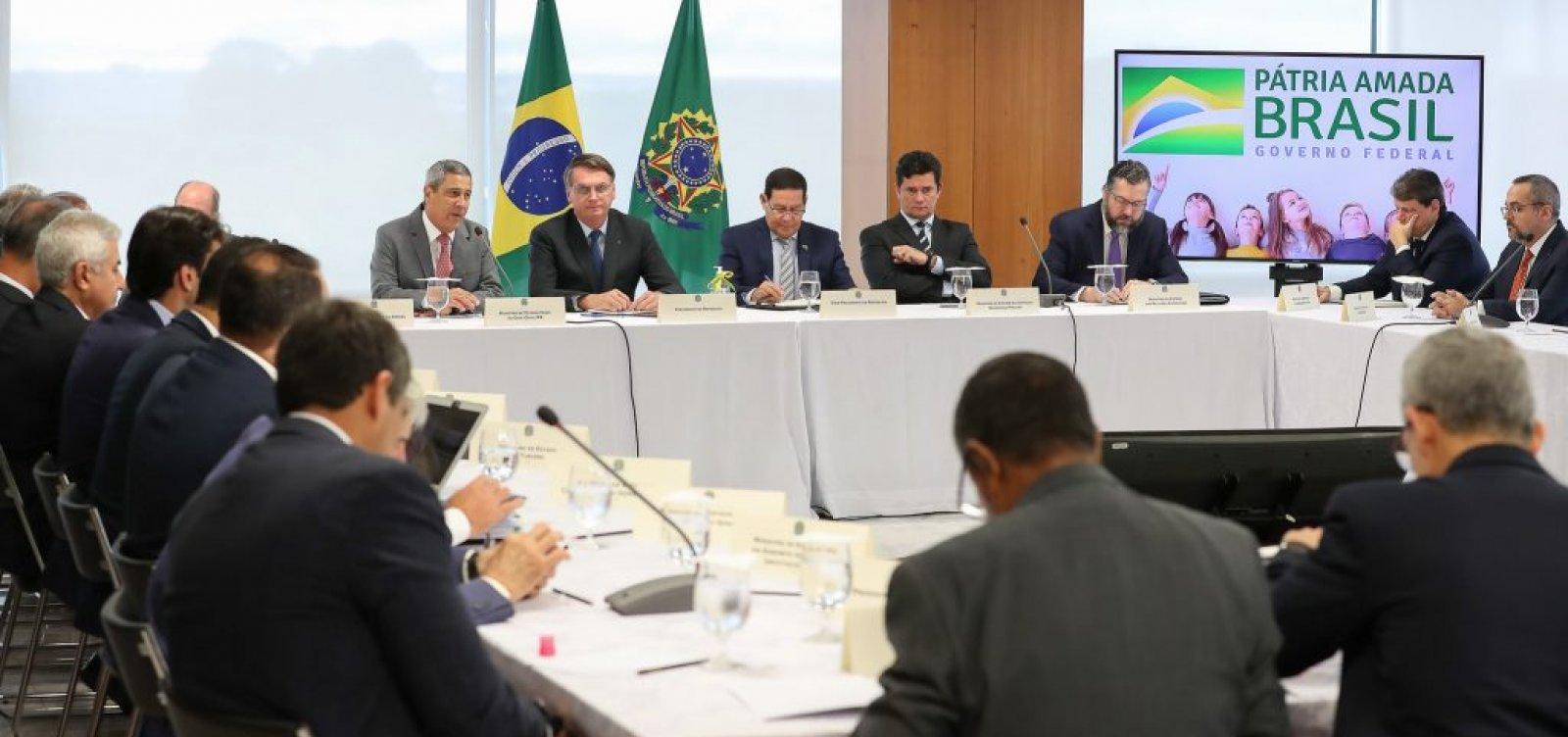 [PF mostra vídeo de reunião ministerial amanhã às 8h]