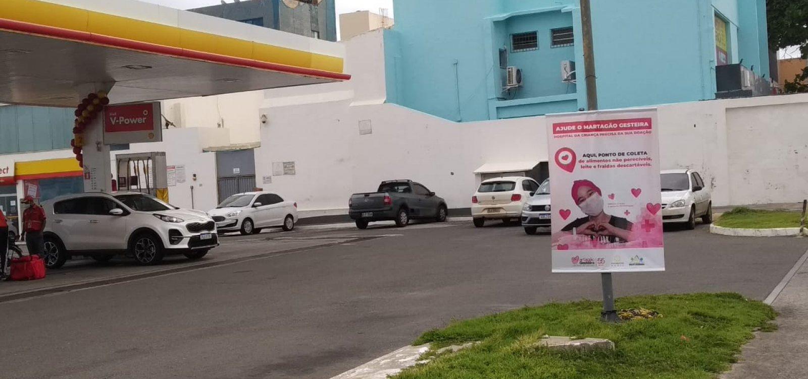 [Postos de combustíveis arrecadam alimentos e fraldas para o Hospital Martagão Gesteira; veja como doar]