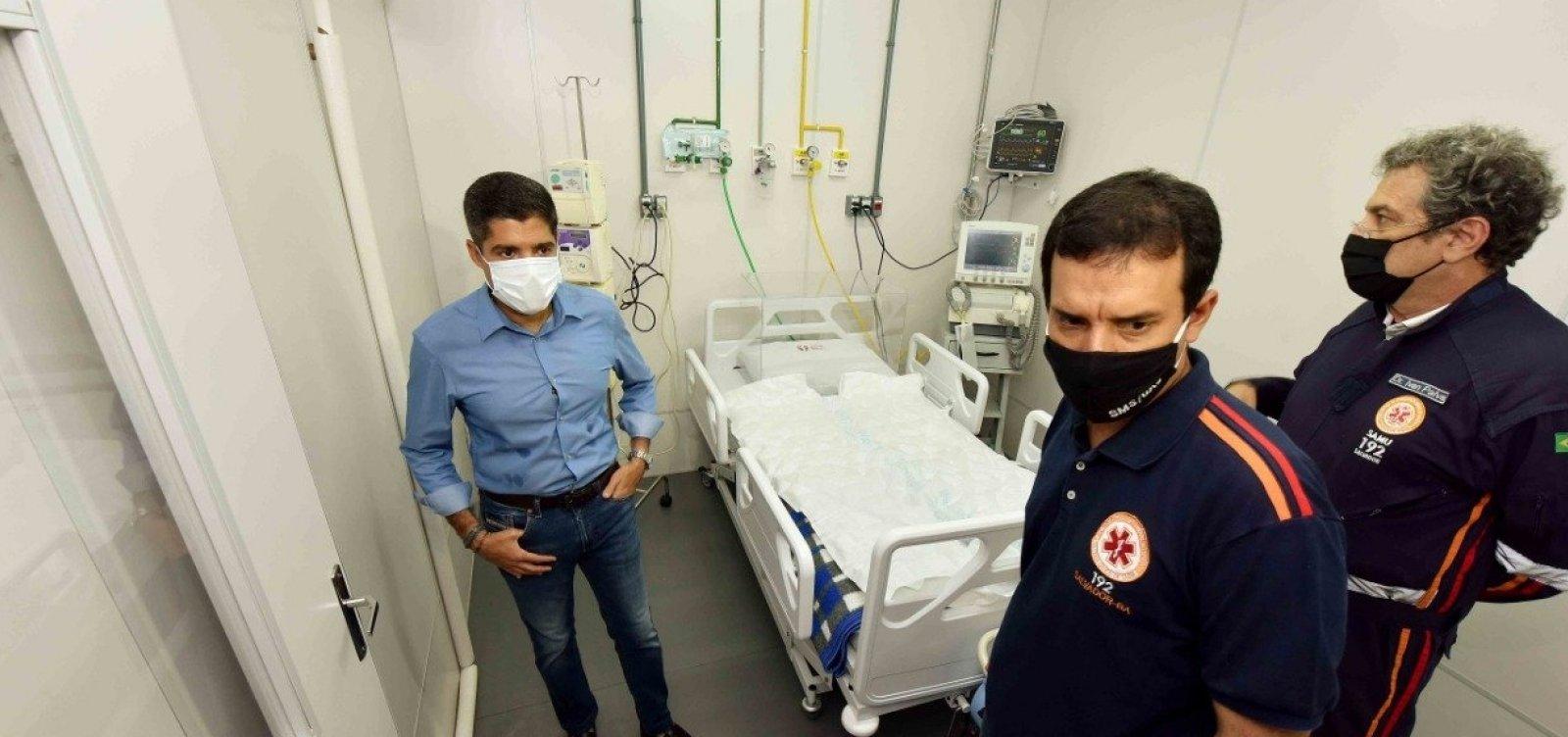[Hospital de Campanha na Paralela já atende pacientes com coronavírus nesta terça ]