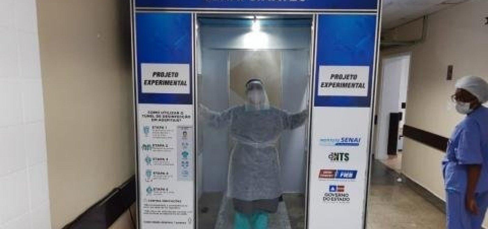 [Túneis de desinfecção são instalados em hospitais de Salvador]