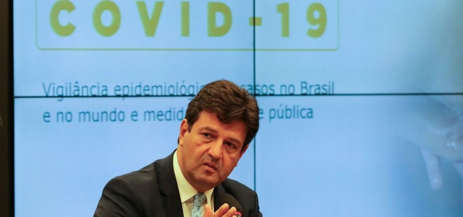 [Mandetta diz que surto de coronavírus no Brasil 'está apenas começando']