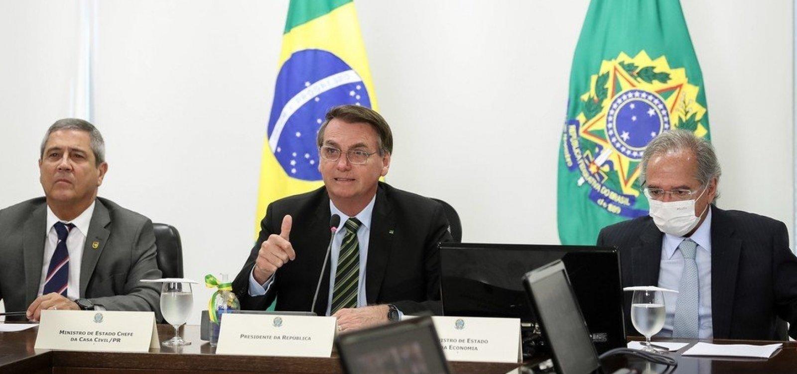 [Bolsonaro fala em 'guerra' e pede que empresários joguem 'pesado' contra 'lockdown' em SP]