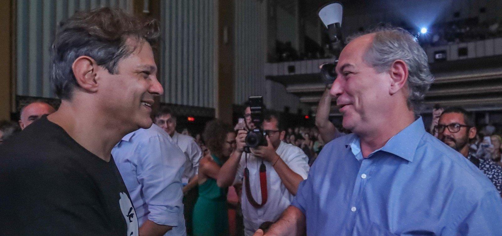 [Haddad revela ter oferecido apoio do PT para Ciro ser candidato à presidência em 2018]