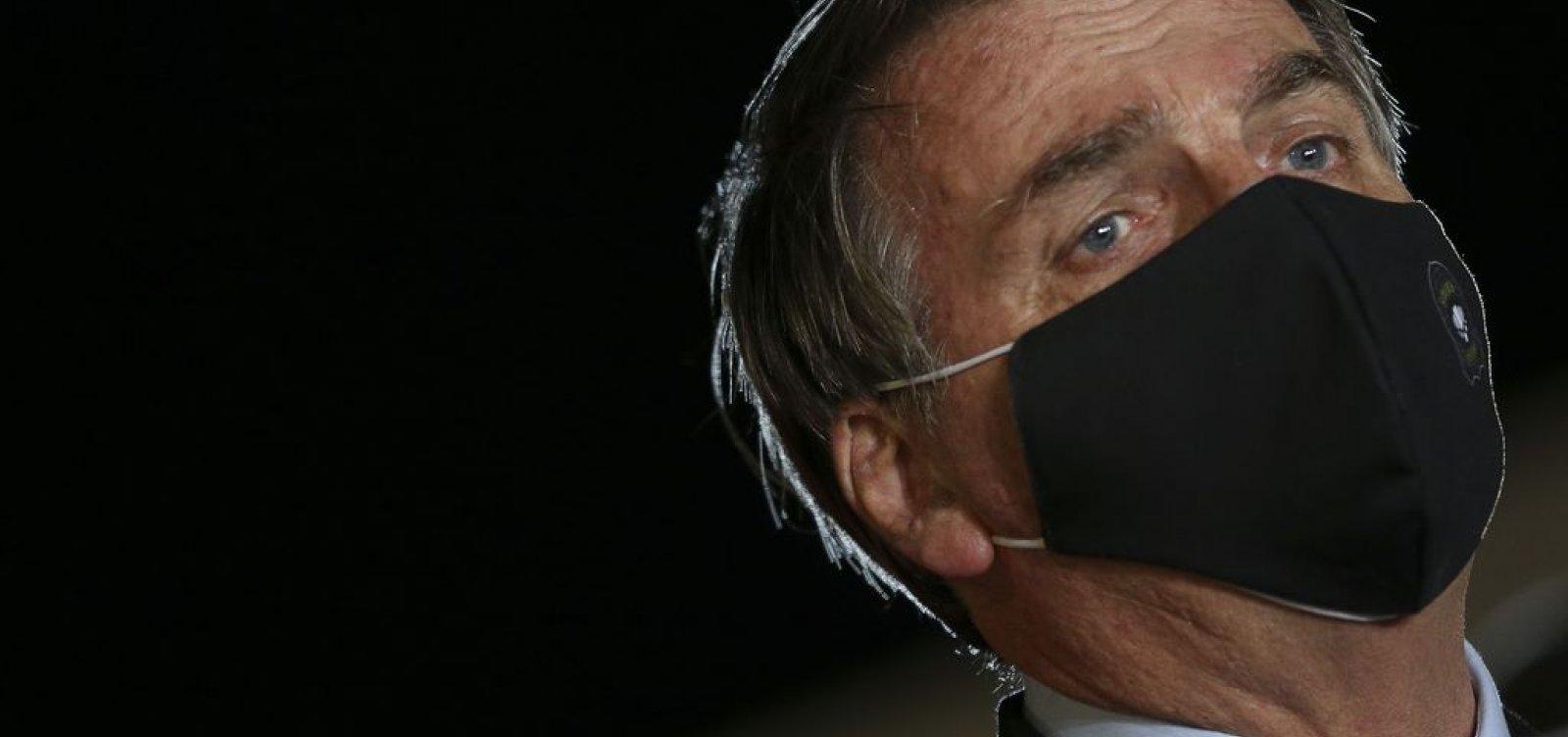 ['Nenhum ministro saiu por corrupção', diz Bolsonaro a apoiadores ]