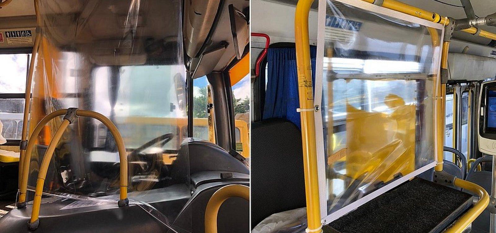 [Ônibus de Salvador ganham proteções para motoristas e cobradores nesta sexta]
