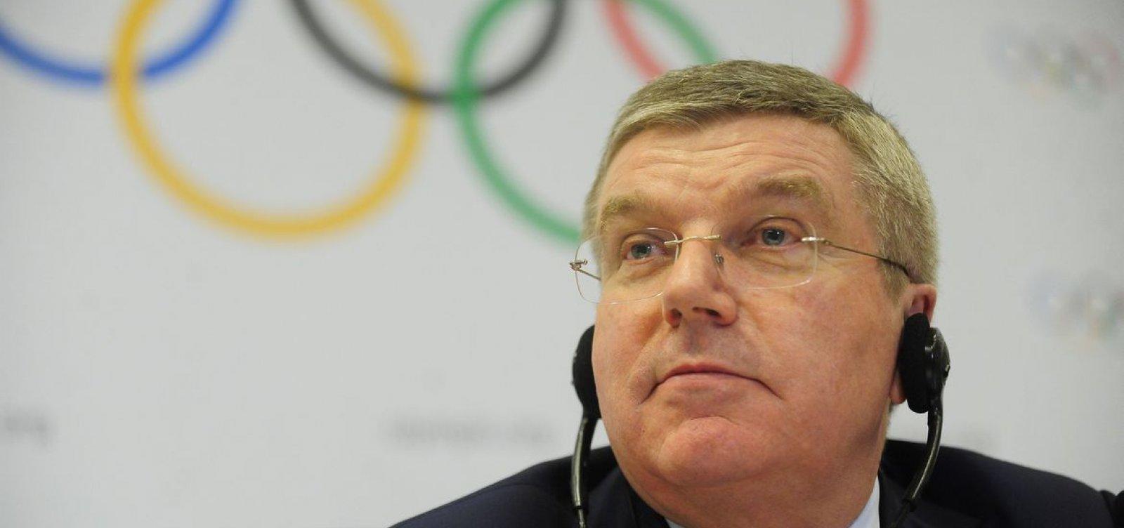 [Olimpíada pode ser cancelada se pandemia não for controlada, diz presidente da COI]
