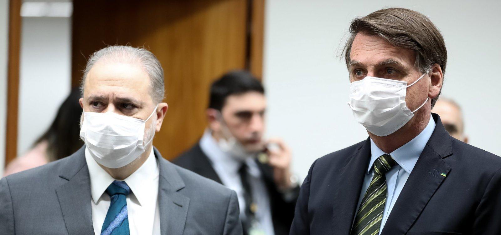 [Bolsonaro se encontra com Aras após se convidar para ir à PGR; reunião não estava na agenda]