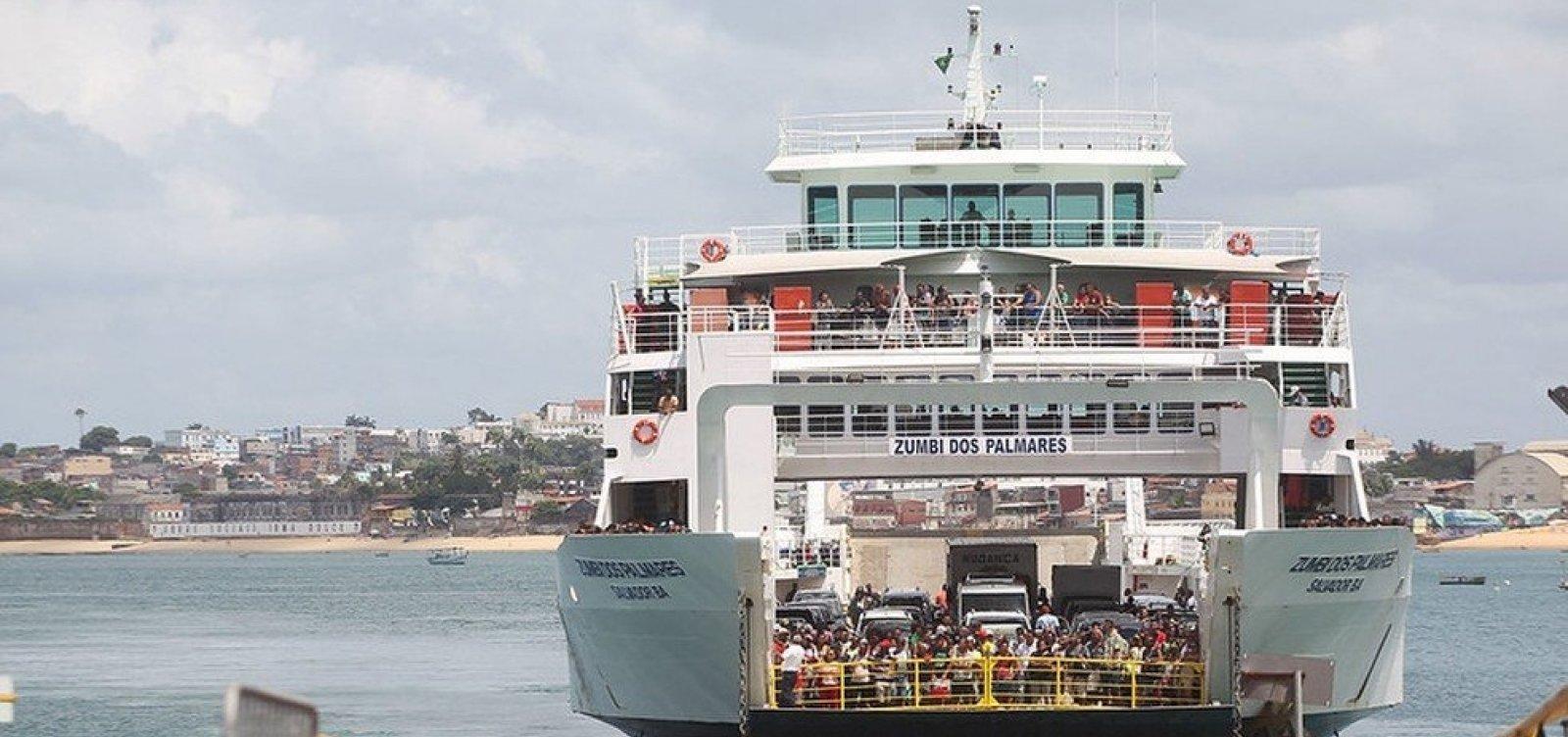 [Ferry e lanchas têm operações suspensas na terça e quarta-feira]