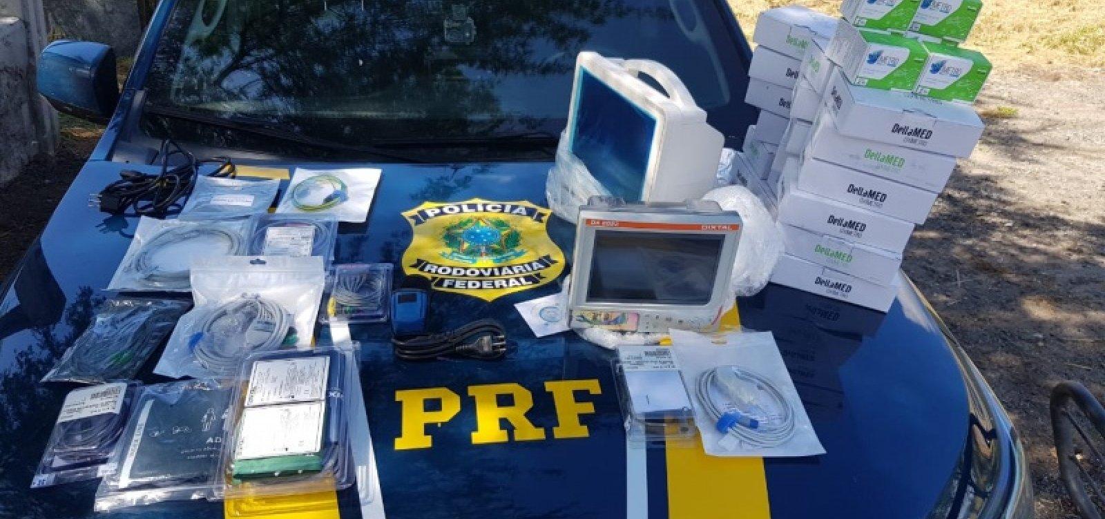 [PRF apreende equipamentos hospitalares transportados de forma irregular na BR-116]