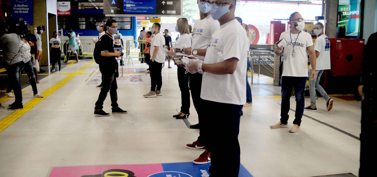 [Prefeitura inicia distribuição de 15 mil máscaras em regiões de Salvador]