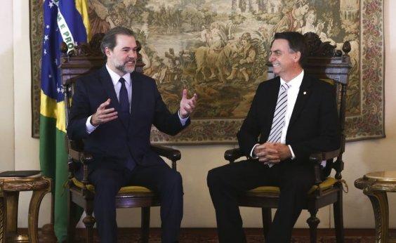 [Em dia de operação da PF contra aliados de Bolsonaro, presidente visita Dias Toffoli no hospital]