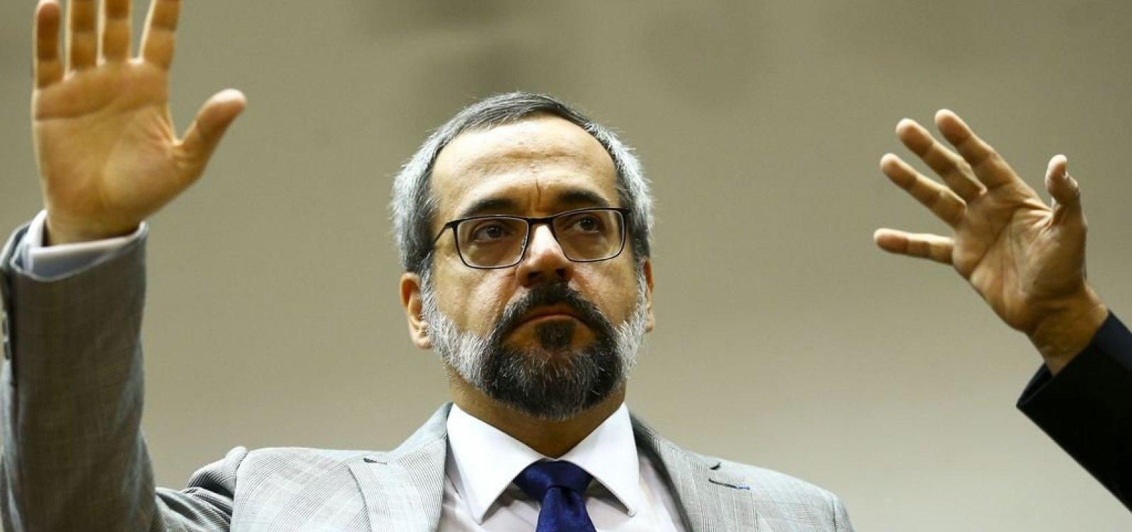 [Inquérito das fake news: Weintraub presta depoimento à PF no Ministério da Educação]