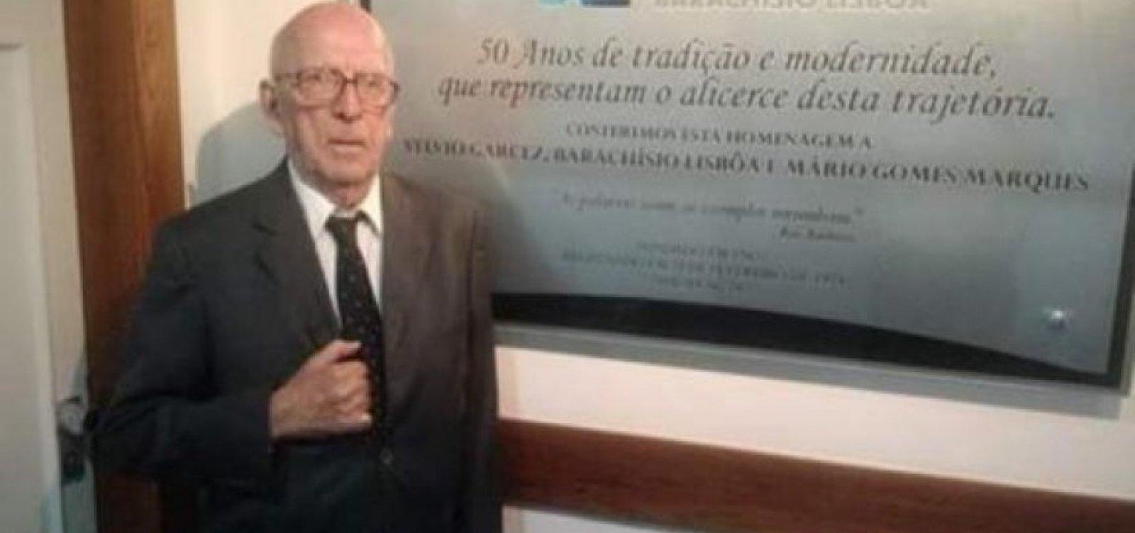 [Morre advogado Sylvio Garcez, aos 92 anos, em Salvador]