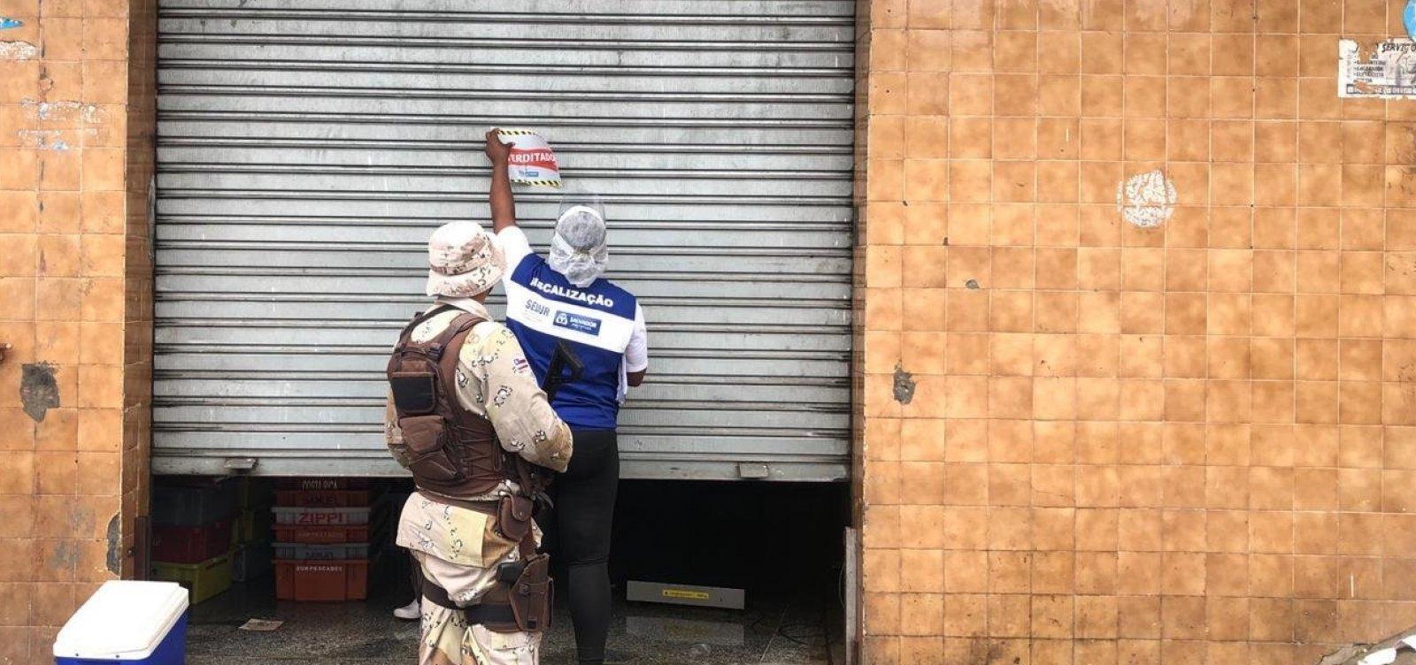 [Sedur interdita 68 estabelecimentos em bairros de Salvador com medidas restritivas nesta quinta]