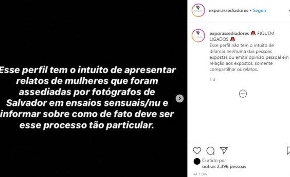 [Perfil divulga relatos de mulheres assediadas por fotógrafos em Salvador]