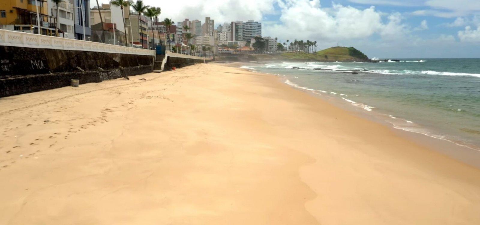 [Após interdição de praias, qualidade da água na praia da Barra passa para excelente]