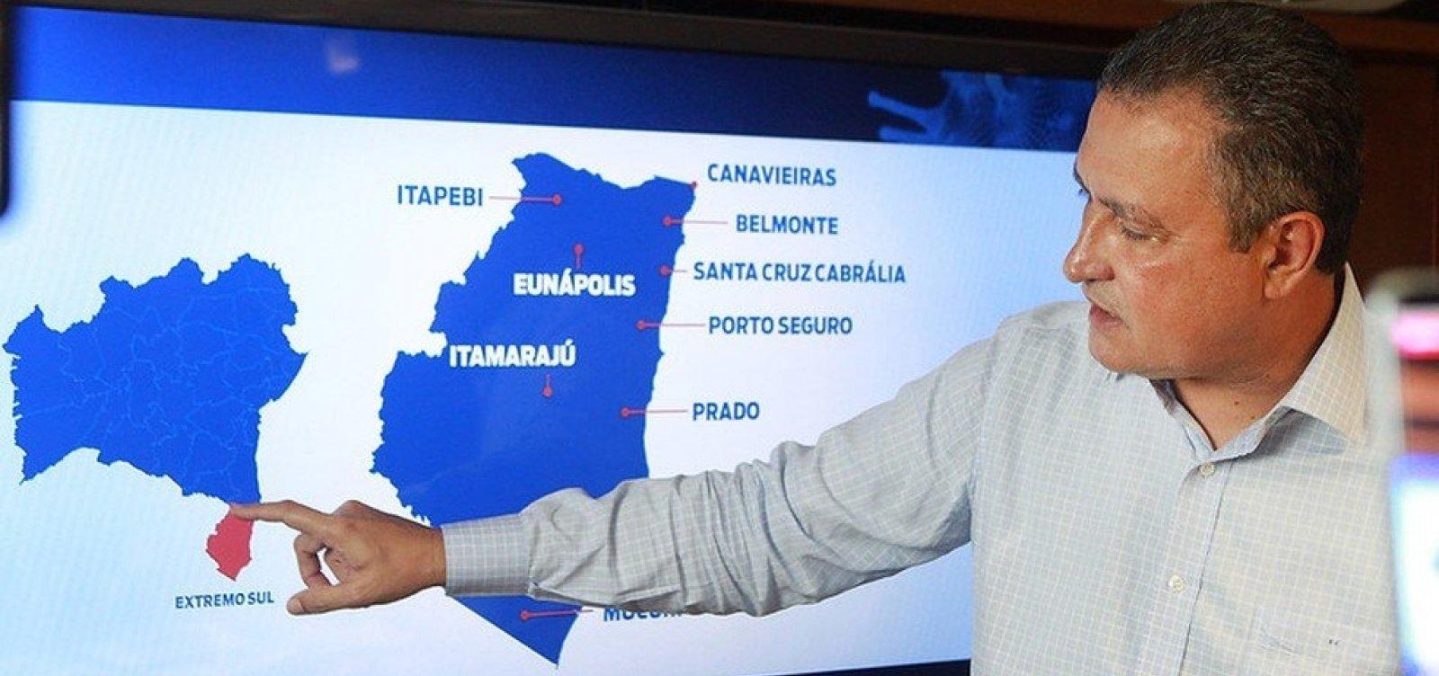 [Rui prorroga medidas restritivas a 19 municípios no extremo-sul da Bahia]
