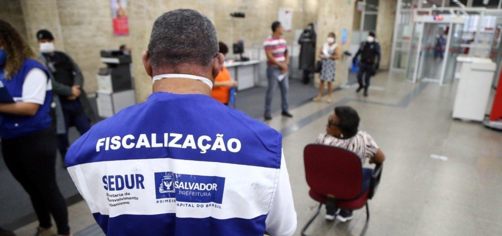[Coronavírus: Sedur interdita 26 estabelecimentos de Salvador nesta quinta-feira]