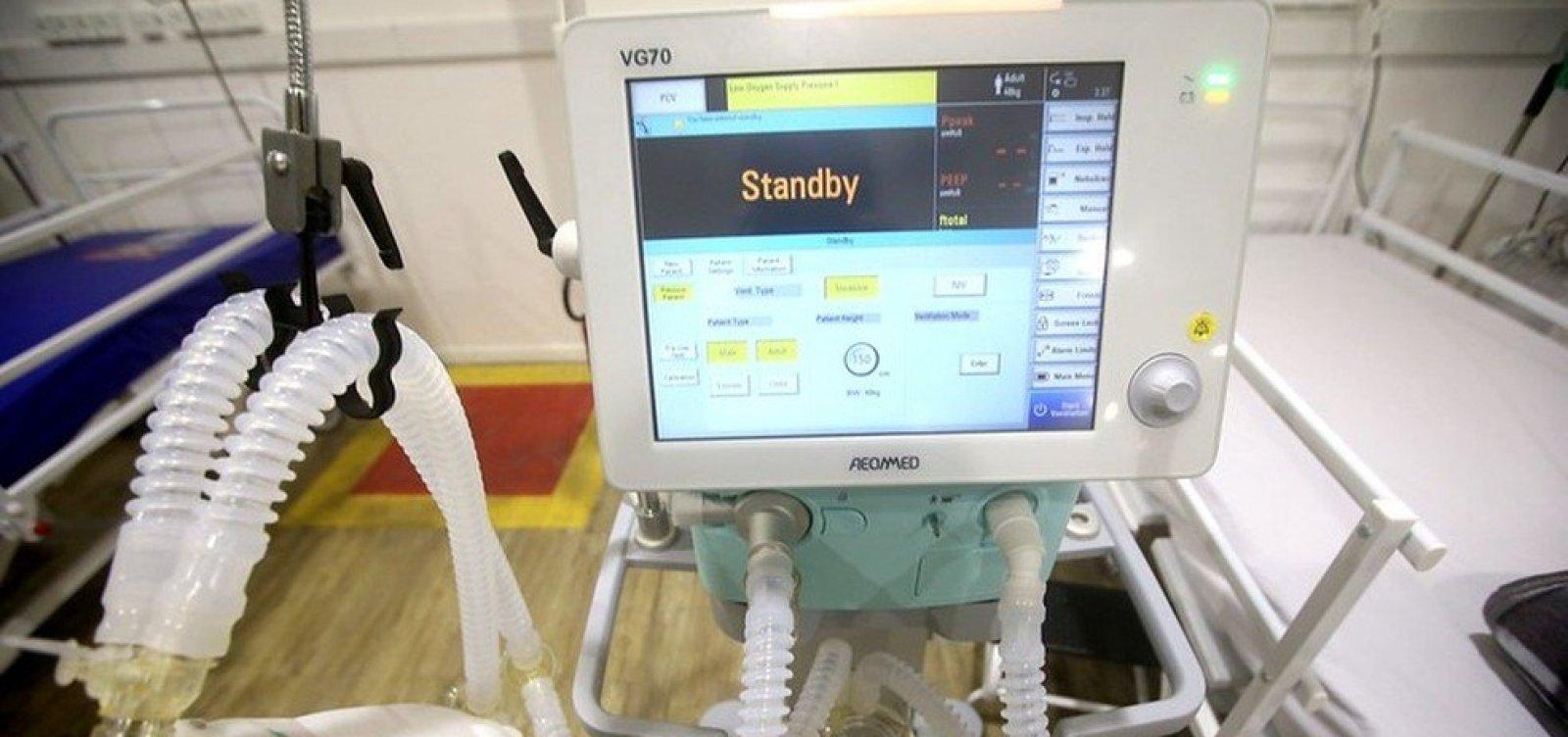 [Feira de Santana recebe sete respiradores para tratamento de pacientes com coronavírus]