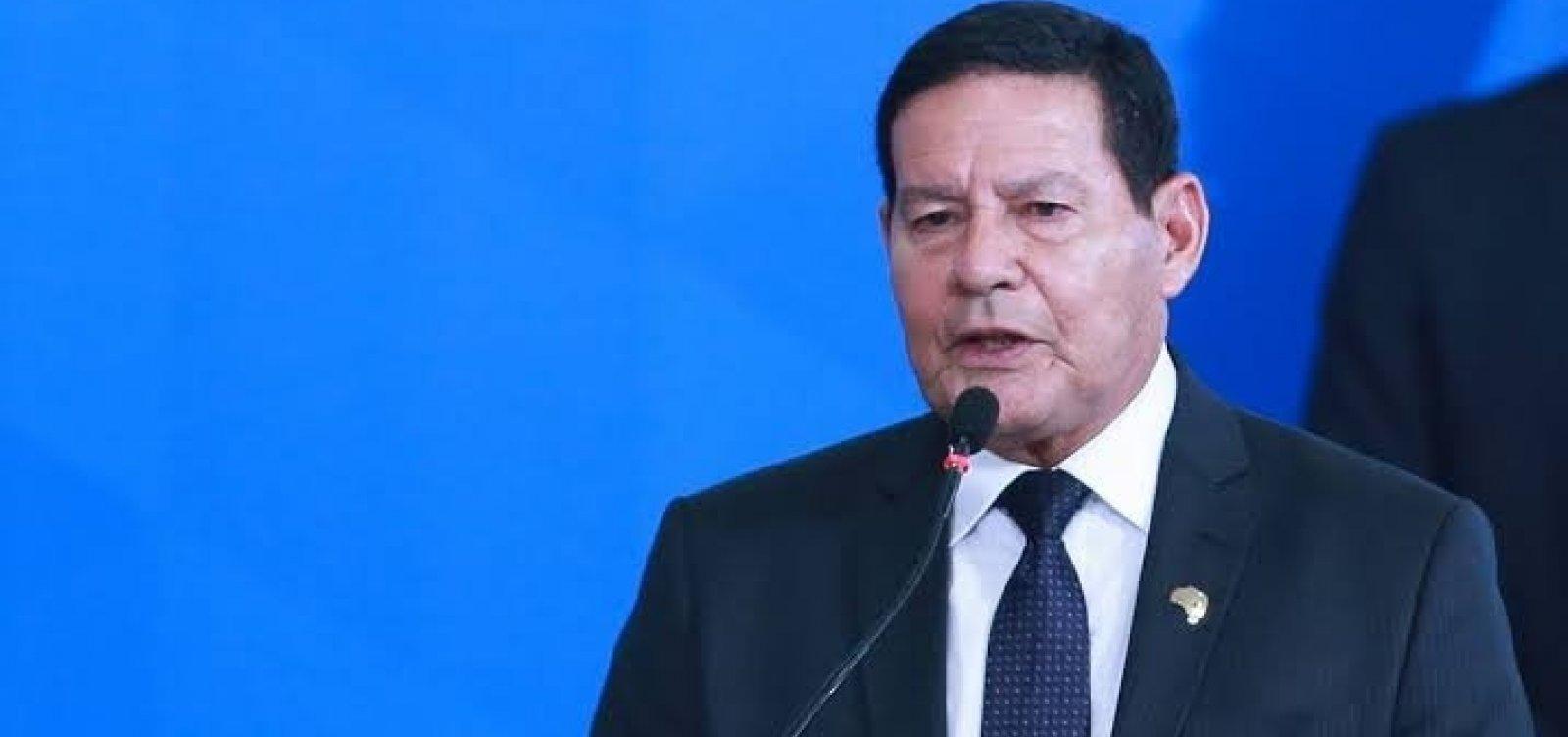 [Vice-presidente Mourão diz ver exagero em operação contra aliados de Bolsonaro]