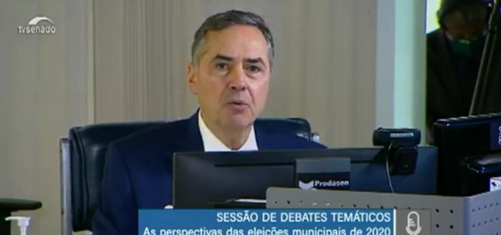 [Eleições municipais: Barroso não apoia voto facultativo em razão do coronavírus]