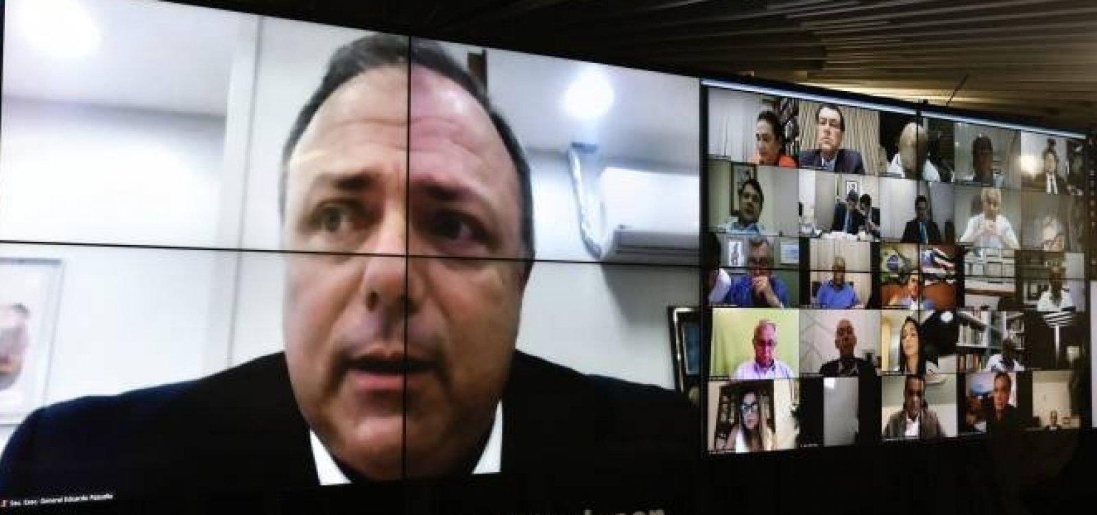 [Pazuello diz que governo vai dar 'transparência infinita' aos dados da pandemia]