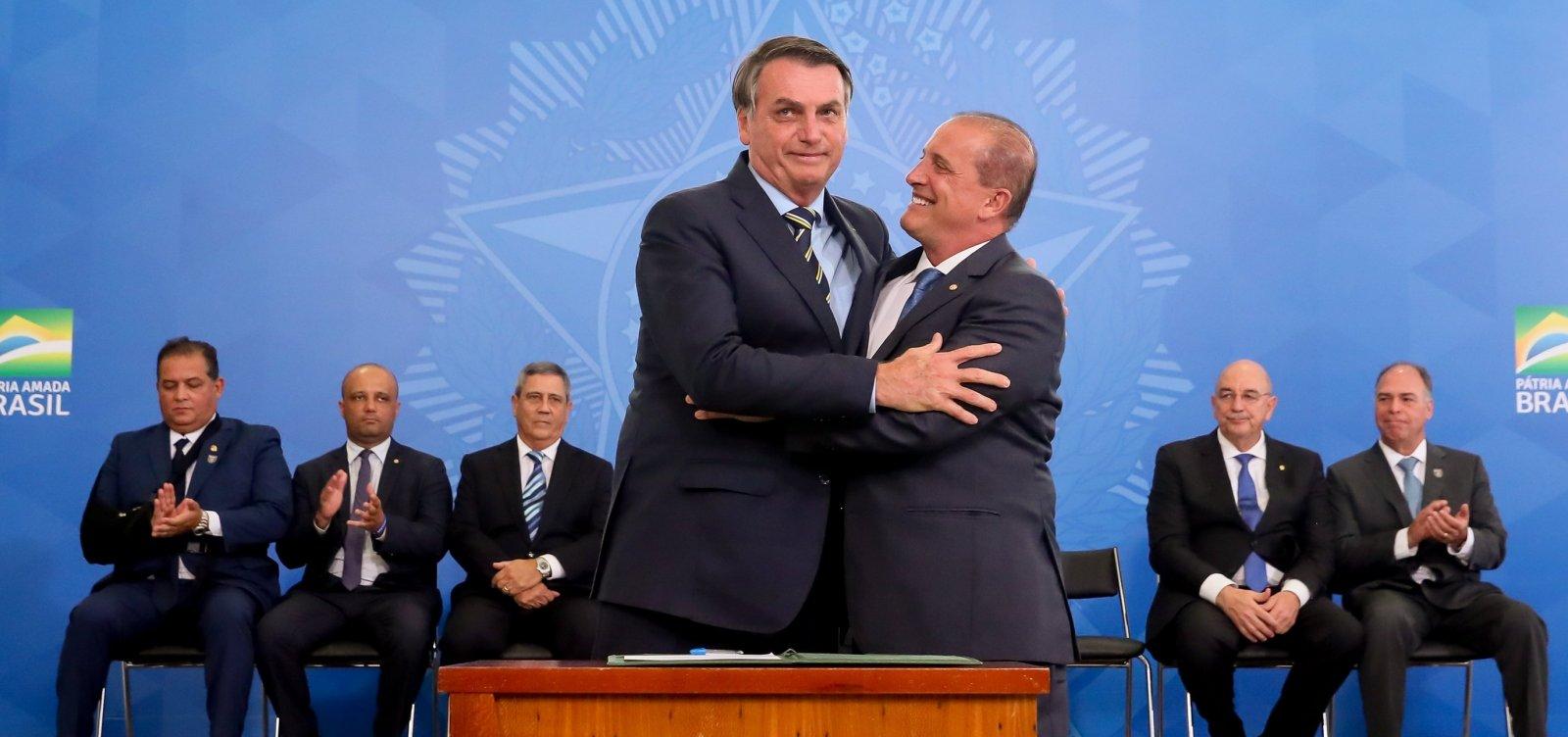 [Onyx comemora 18 meses 'sem casos de corrupção' no governo Bolsonaro]