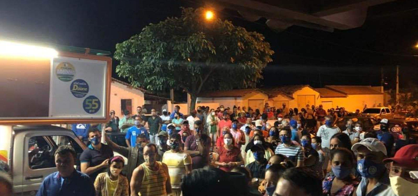[Itatim: Evento político com participação do prefeito aglomera pessoas]
