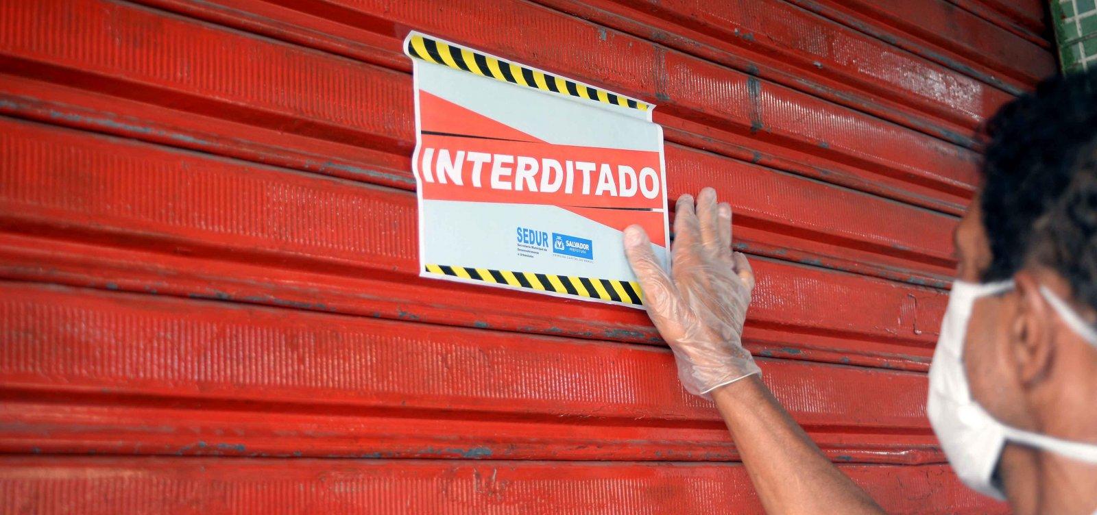 [Prefeitura interdita 16 estabelecimentos em bairros com medidas restritivas]