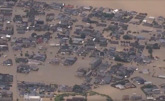 [Enchentes no Japão deixam dezenas de mortos e desaparecidos]