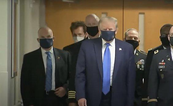 [Trump aparece pela primeira vez em público usando máscara]