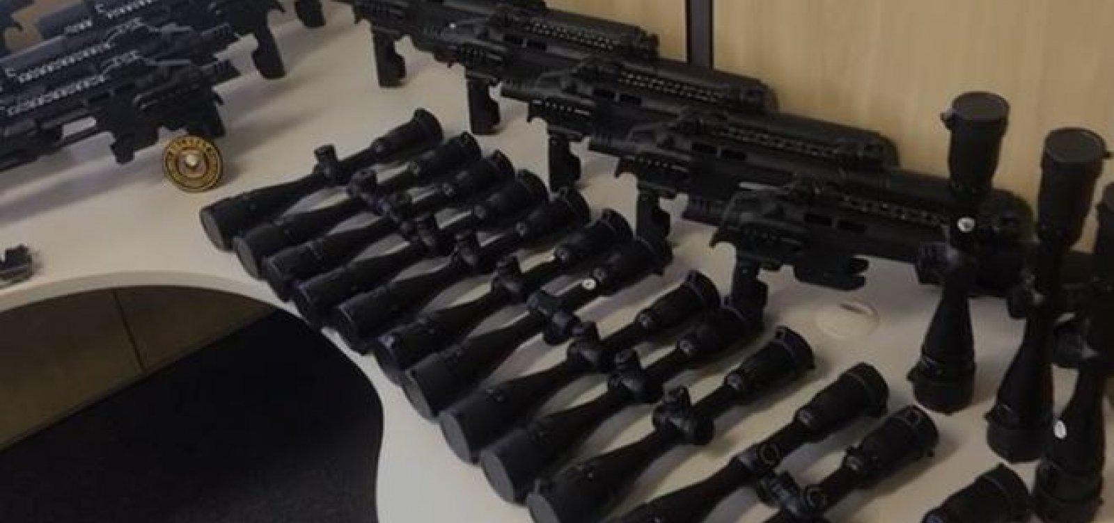 [PF deflagra operação contra tráfico internacional de armas de fogo]