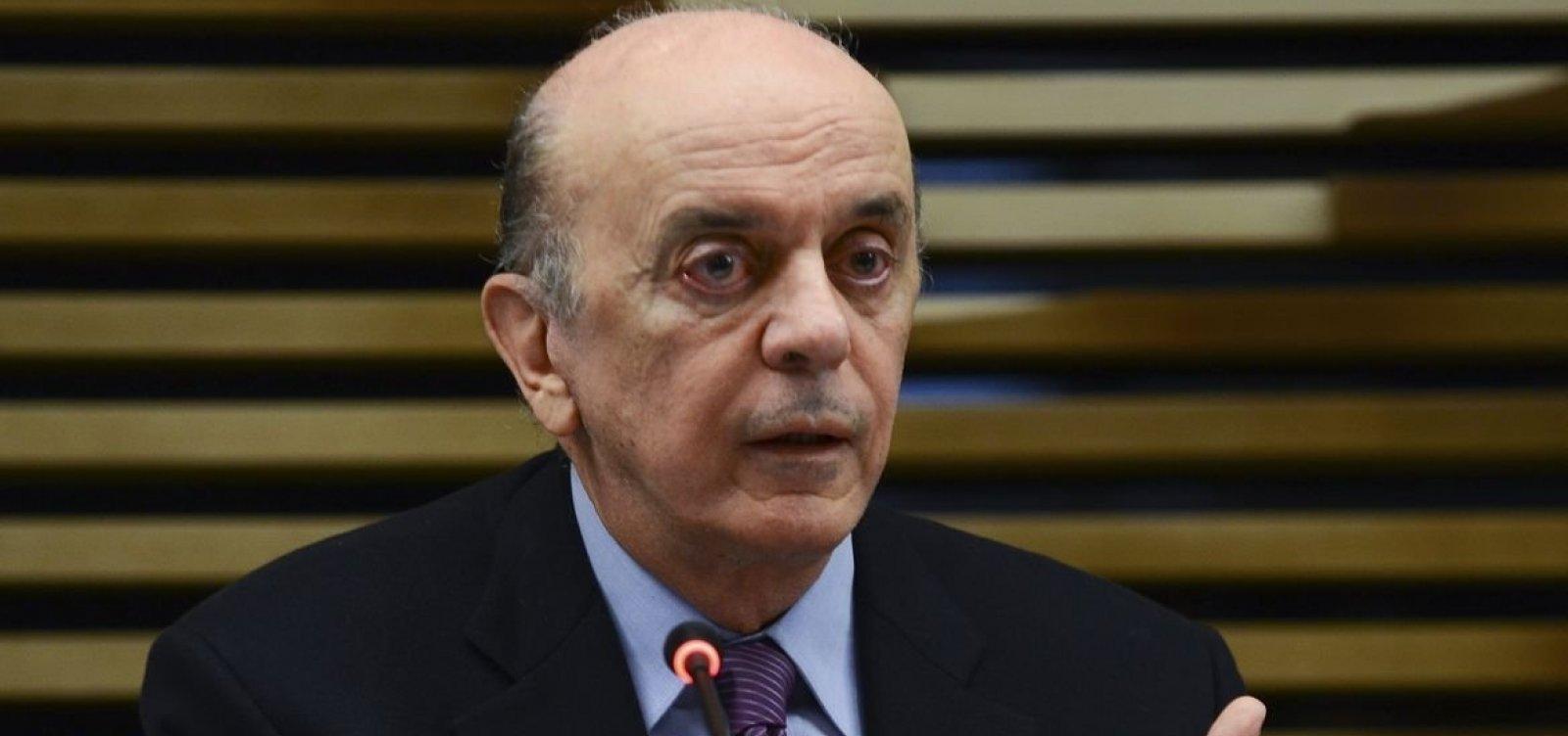 [Após decisão de Toffoli, juiz suspende ação que tornou Serra réu por lavagem de dinheiro]