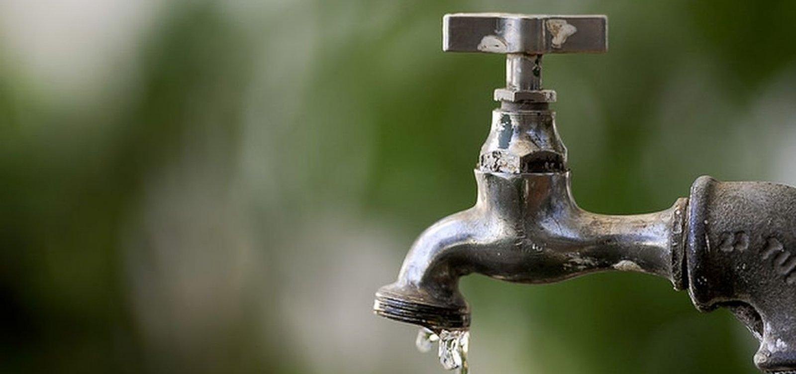[Abastecimento de água será interrompido em 25 bairros de Salvador na segunda-feira]