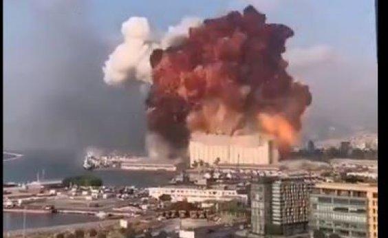 [Explosão de grandes proporções atinge Beirute, capital do Líbano; veja vídeo]