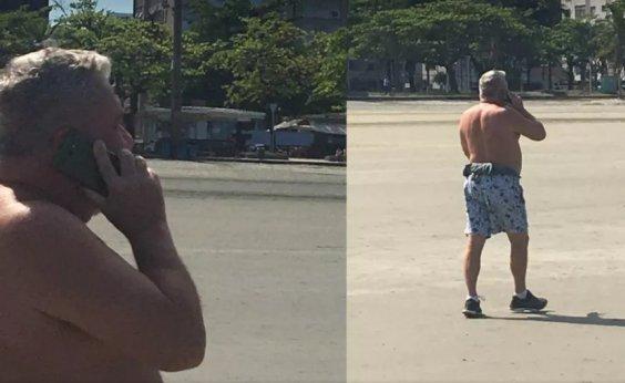 [Desembargador de Santos-SP volta a sair sem máscara e ironiza guardas: 'Poluem a praia']