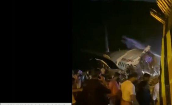 [Acidente com avião na Índia deixa dois mortos; 200 passageiros estavam a bordo]