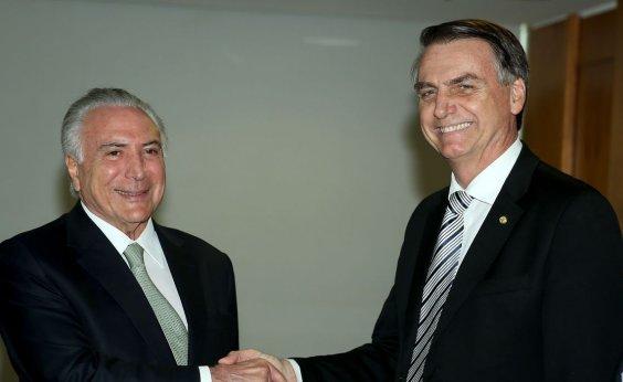 [Bolsonaro convida Temer para chefiar missão de ajuda ao Líbano]