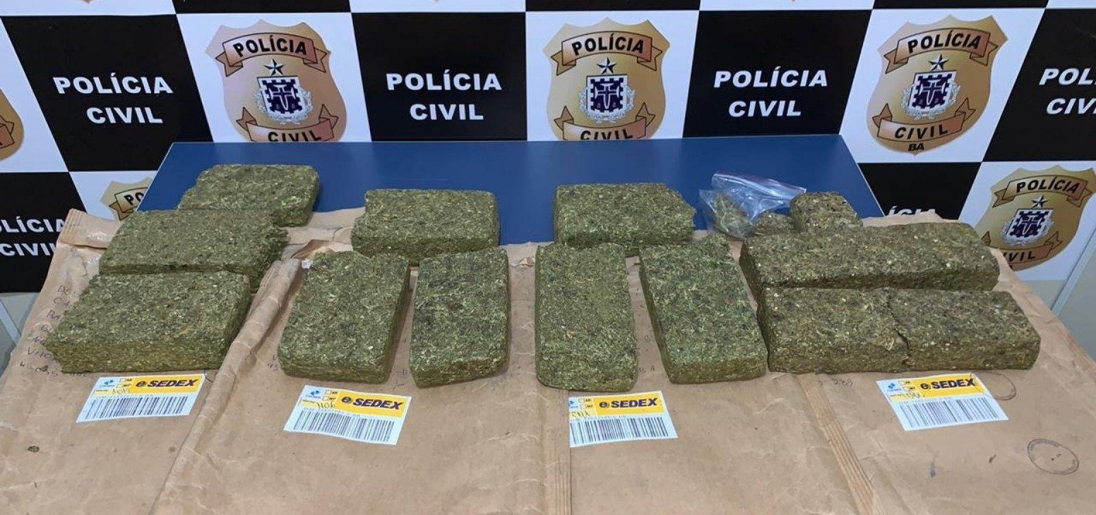 [Vitória da Conquista: polícia prende acusado de tráfico que recebia drogas pelo Sedex]