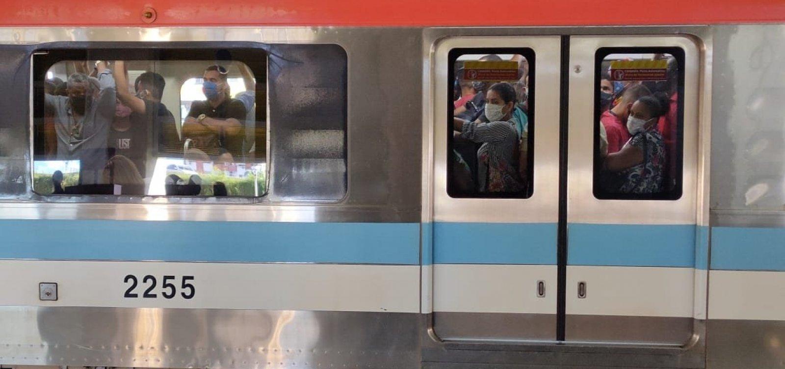 [Linha 2 do metrô de Salvador apresenta falha e provoca atraso nas estações]