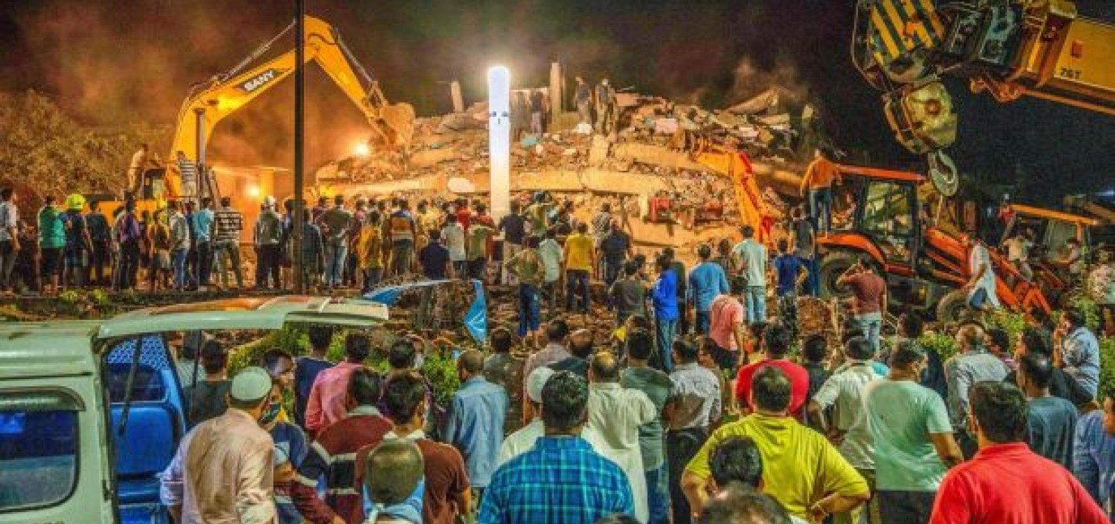 [Prédio de apartamentos desaba na Índia; 1 pessoa morreu, diz imprensa local]