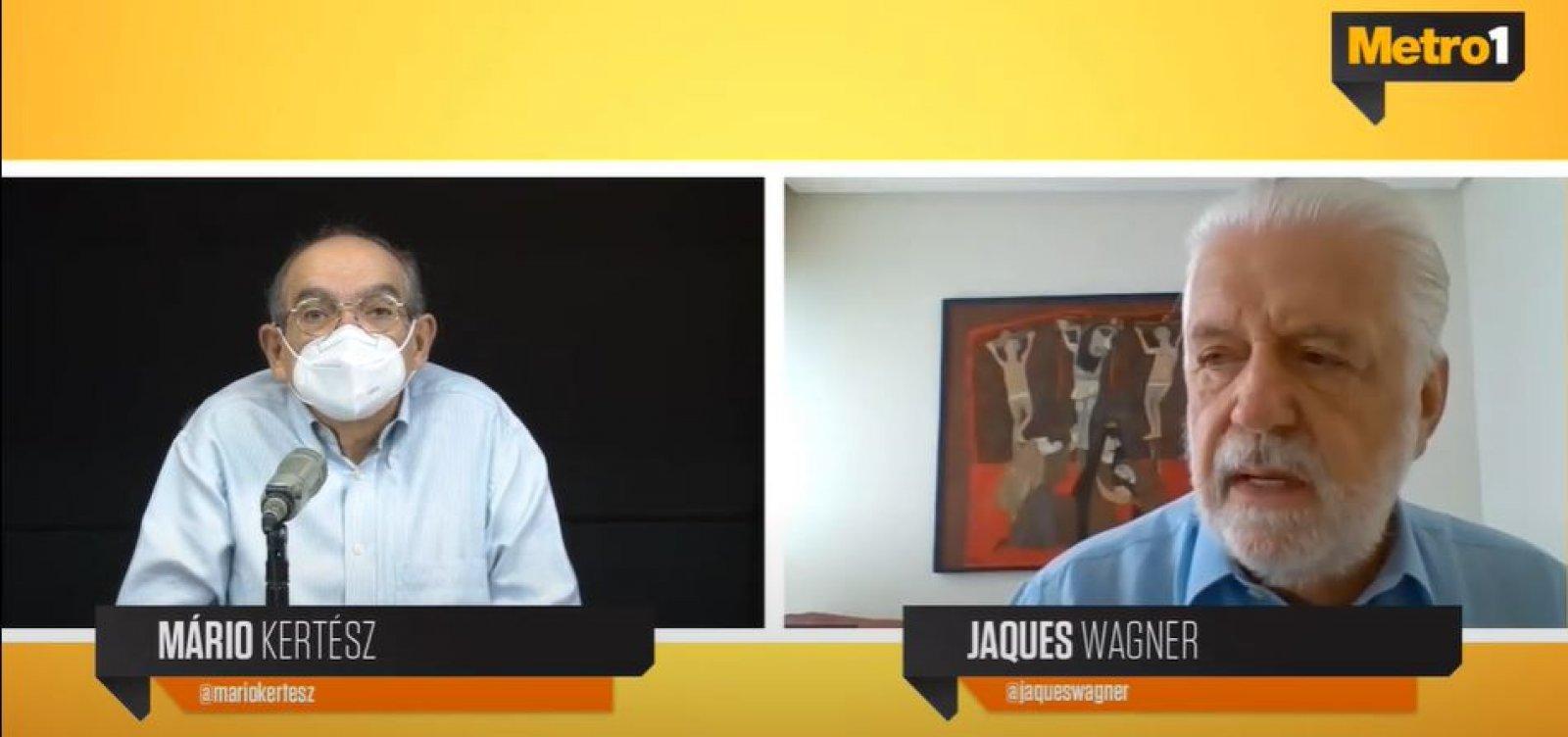 [Jaques Wagner volta a defender renovação do PT e diz que Isidório é vítima de 'preconceito']
