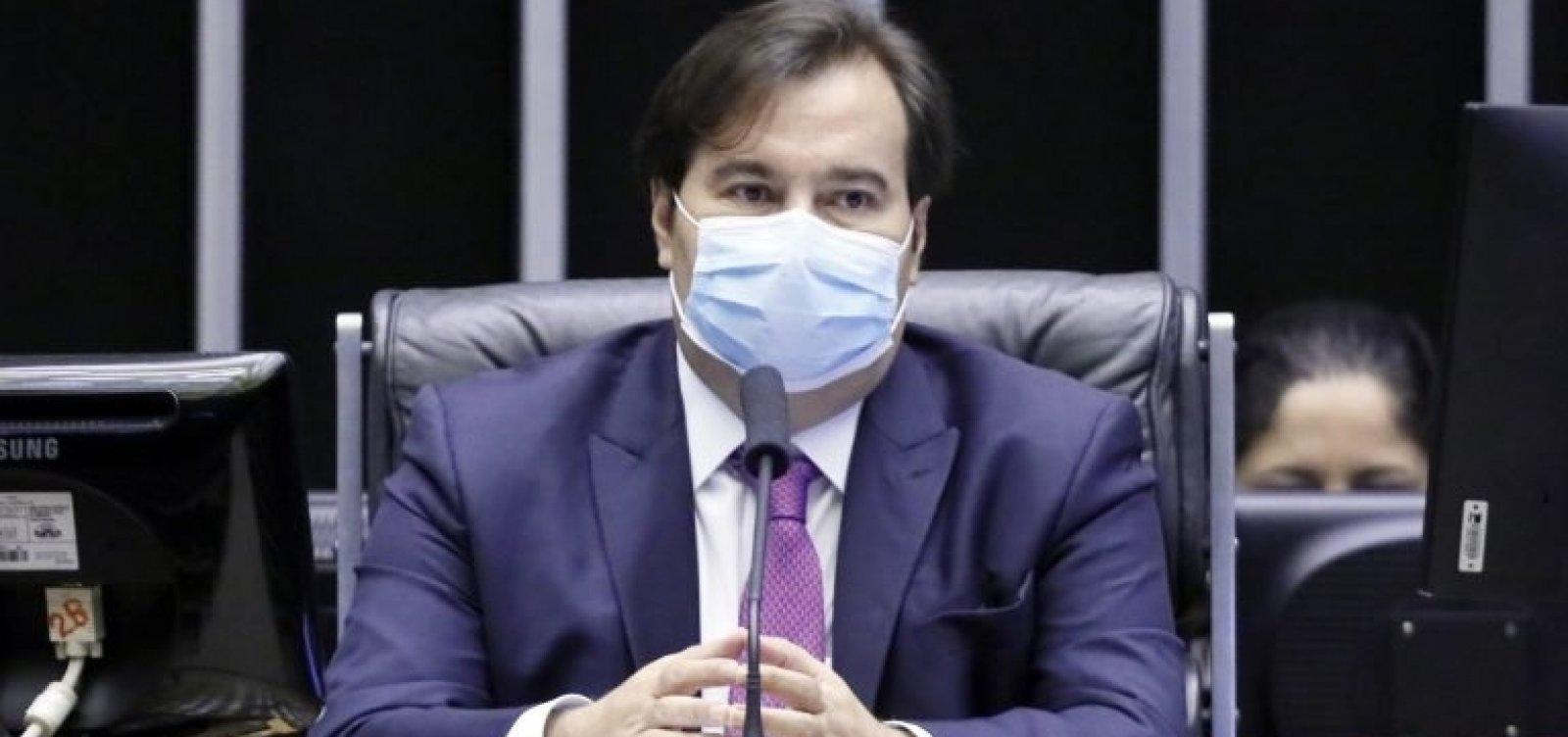 [Presidente da Câmara, Rodrigo Maia é diagnosticado com Covid-19, diz TV]