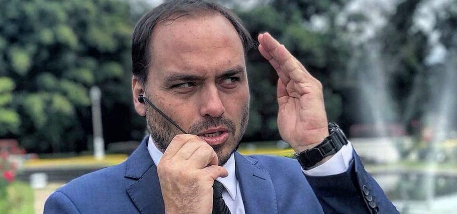 ['Atos antidemocráticos são meus ovos na goela', diz Carlos Bolsonaro sobre depoimento à PF divulgado]