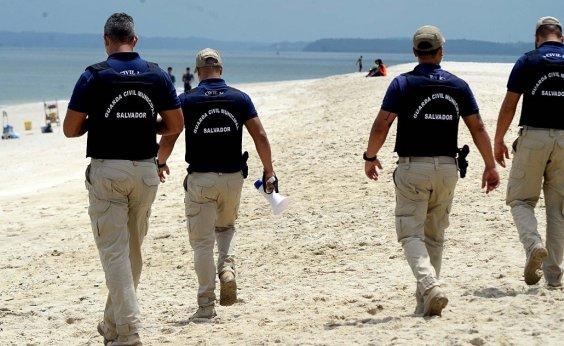 [Após liberação, Guarda Municipal inicia monitoramento das praias de Salvador]
