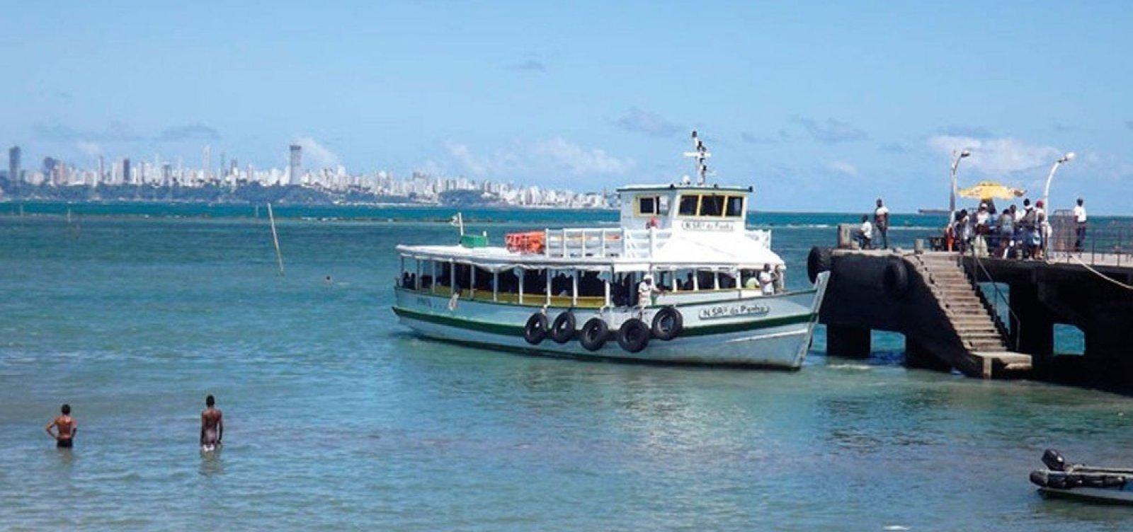 [Travessia Salvador-Mar Grande opera com seis embarcações neste domingo e tem movimento tranquilo]