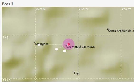 [Novo tremor de terra é registrado na Bahia neste domingo]